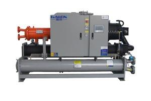 Water-cooled screw chiller with heat recovery